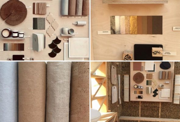 Sewing paper & Cork fabric